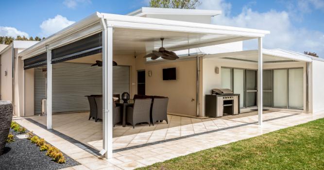 Skillion roof patios Sunshine Coast